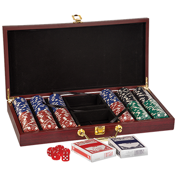 AHA Rosewood Finish 300 Chip Box Set