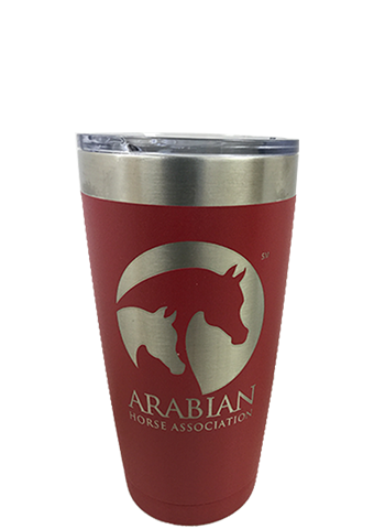 AHA 20 oz Red Powder-coated Polar Tumbler