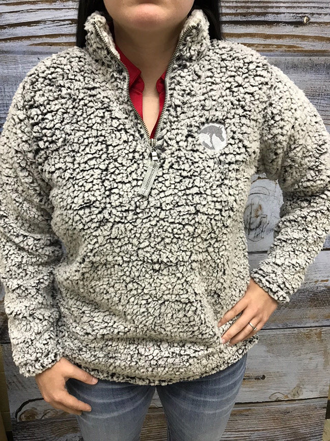 AHA Ladies Black Heather Sherpa 1/4 Zip