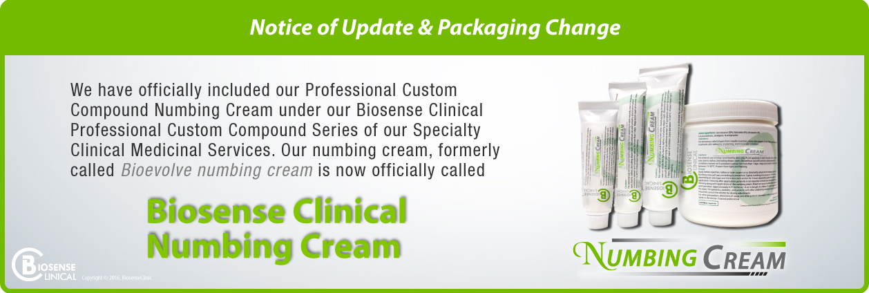 Numbing cream notice
