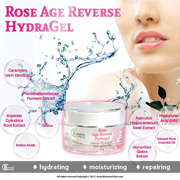 BiosenseClinical Professional Custom Compound Rose Age Reverse HydraGel mobile banner