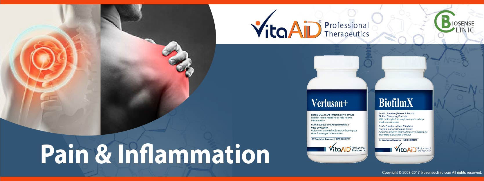 VitaAid category banner Pain & Inflammation