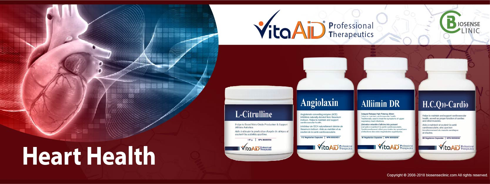 VitaAid category banner Heart health