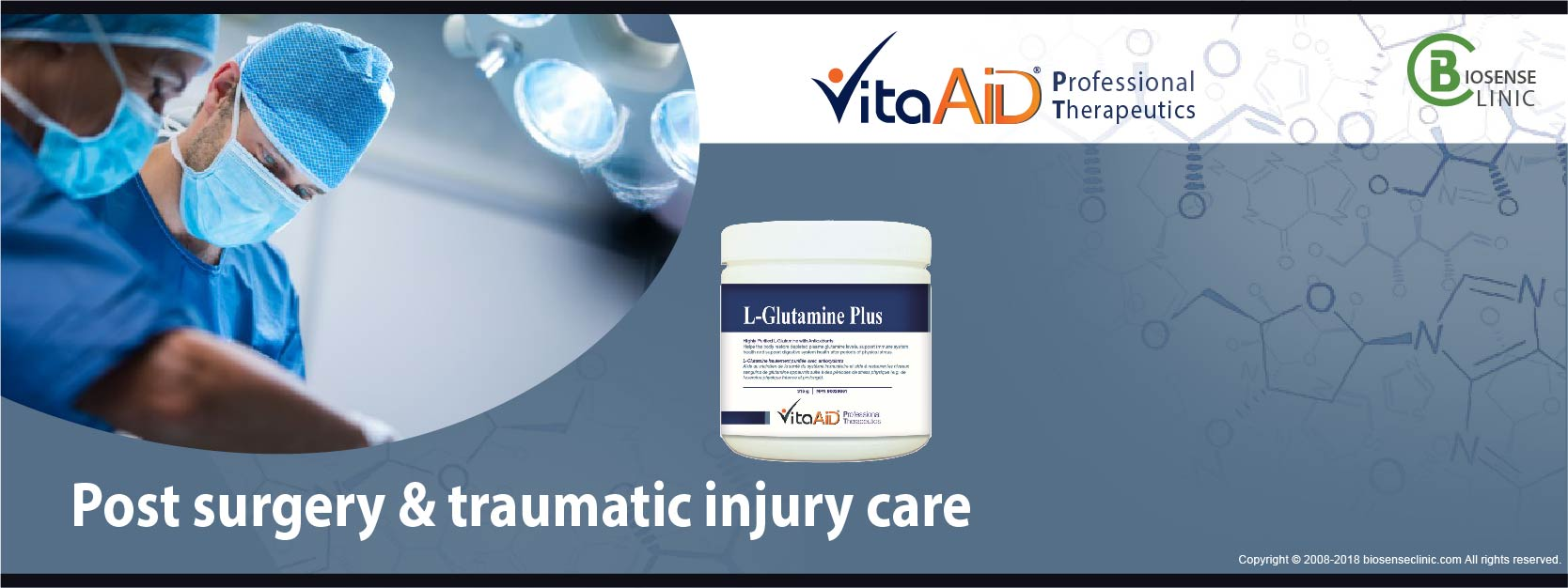 VitaAid category banner Post surgery & traumatic injury care