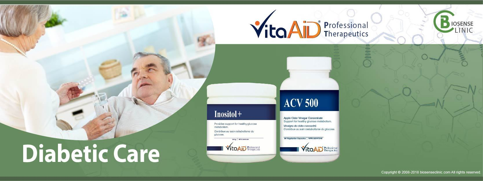 VitaAid category banner diabetic care