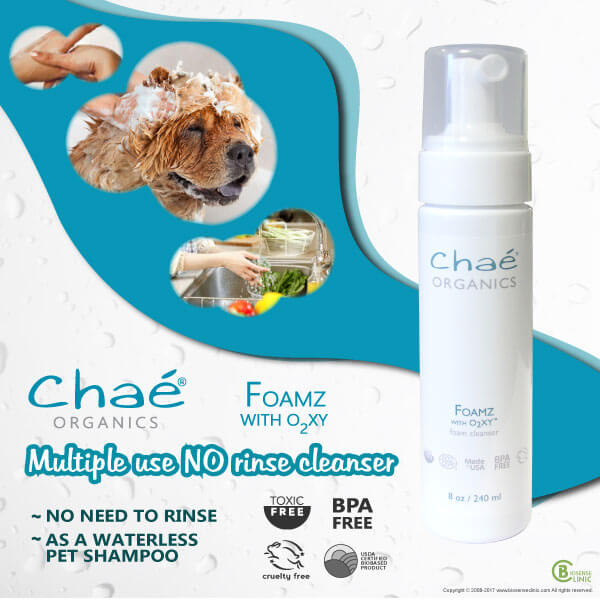 Chaé Organics Foamz with O2XY foam cleanser mobile banner