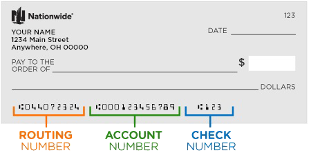 find your routing number and account number for eCheck