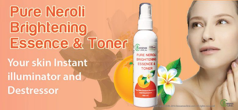 BiosenseClinical Professional Custom Compound Pure Neroli floral Brightening Essence & Toner product banner