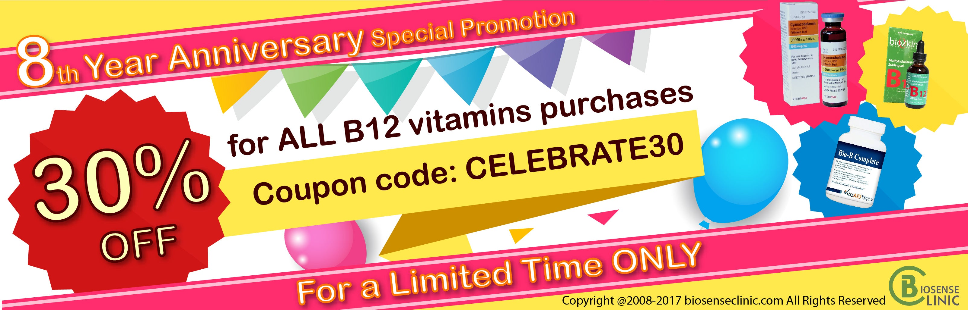 8th year anniversary special promotion banner