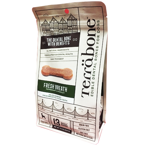 Terräbone Fresh Breath dental chew bone - Biosense Clinic