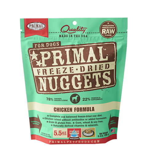Raw Freeze Dried Canine Chicken Formula Primal Nuggets - 5.5 oz. (156g)