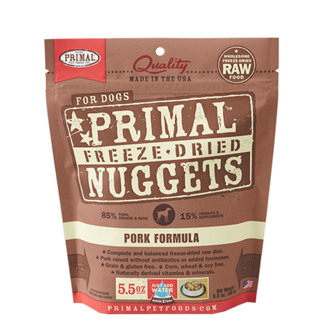 Raw Freeze Dried Canine Pork Formula - 5.5 oz. (156g)