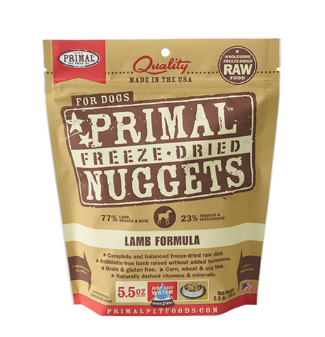 Primal Raw Freeze Dried Canine Lamb Formula - 5.5 oz. (156g)