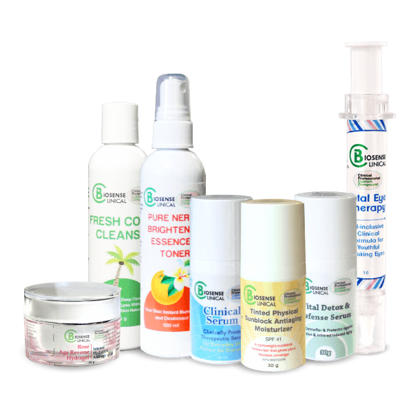 BiosenseClinical Specialty Skincare Premium Packages - Set A: Essential Skincare Package
