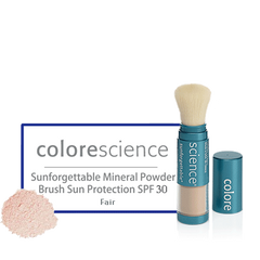 Colorescience Sunforgettable Mineral Powder Brush Sun Protection SPF 30 Fair - BiosenseClinic.com