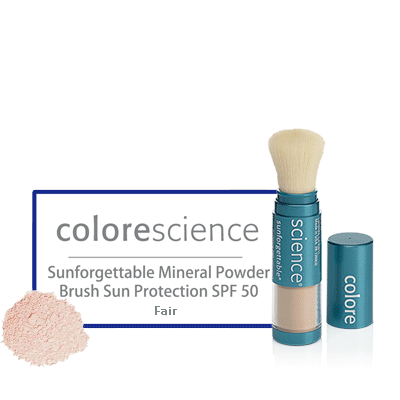 Colorescience Sunforgettable Mineral Powder Brush Sun Protection SPF 50 fair - BiosenseClinic.com