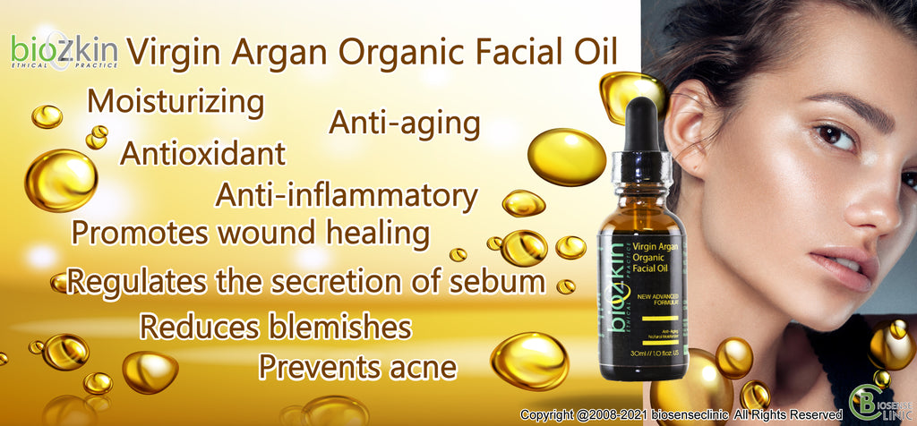 BioZkin Virgin Argan Organic Facial Oil - Argan Oil