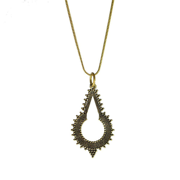 Temple pure brass necklace