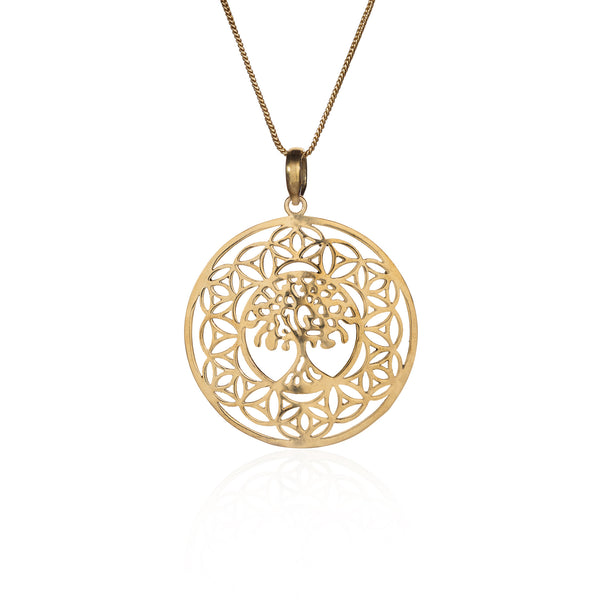 Akshaya Vata pure brass necklace