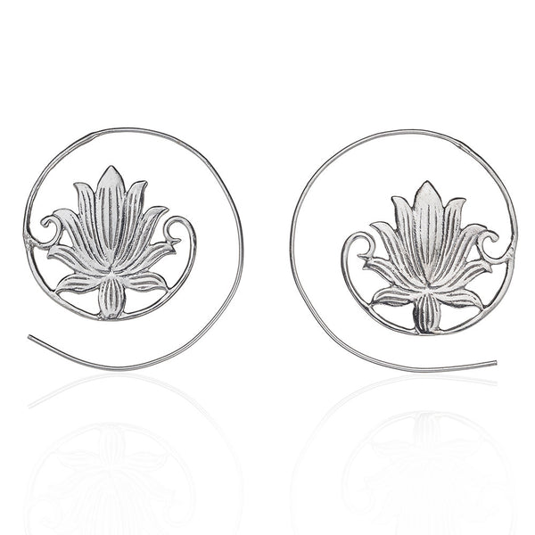 Bassi Bloom sterling silver earring