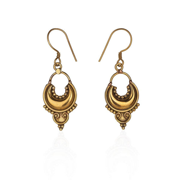 Antiquity pure brass earrings