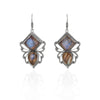 Silver Crystal Bees Earrings