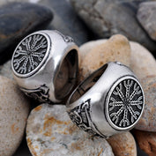 Viking Slain Warrior Silver Rings - My Passion Street