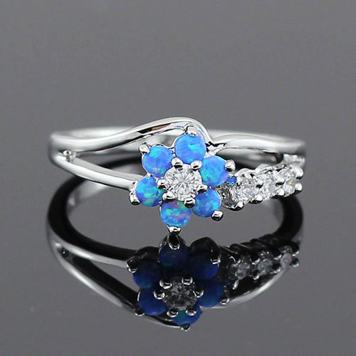 Topaz Flower Stone Ring - 50% OFF Today!