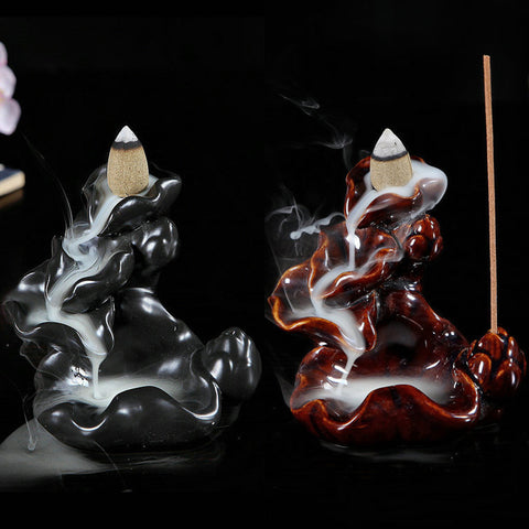 Ceramic Glossy Lotus Pond Incense Burner-50% OFF-Today!
