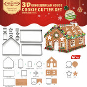 3D Gingerbread House Cookie Cutter Set - 50% OFF TODAY - My Passion Street
