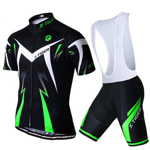 5D Gel Padded Black Cycling Jersey Set - 50% OFF
