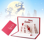 3D Merry Christmas Greeting Cards Series