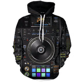 3D DJ Audio Mixer Hoodies- 50% OFF