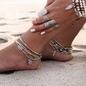 Boho Multilayer Leaf Anklet - 50% OFF