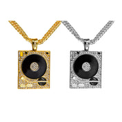 DJ Crystal Turntable Pendant Necklaces - My Passion Street