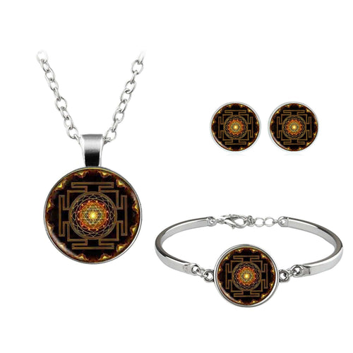 Sacred Sri Yantra Jewelry Set - My Passion Street