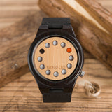 Black Sandalwood Holes Dial Watch