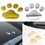 3D Metallic Dog Paw Car Decal
