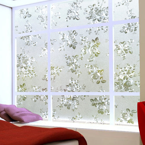 Floral Frosted Window Stickers - My Passion Street