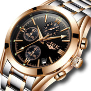 Steel Gold Masculion Watch - 50% OFF - My Passion Street