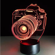 3D Illusion Color Changing Camera Lamp-50% OFF