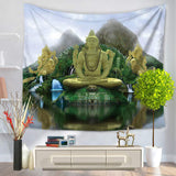 3D Buddha Wall Tapestry - 50% OFF