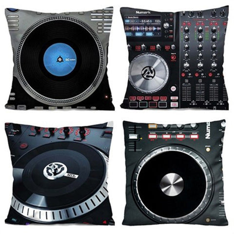 3D DJ Turntable Pillow Cases