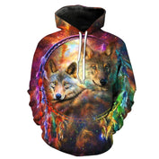 3D Wolf Dreamcatcher Space Hoodie - 50% OFF