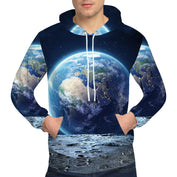 3D Galaxy Earth Hoodie - 50% OFF - My Passion Street
