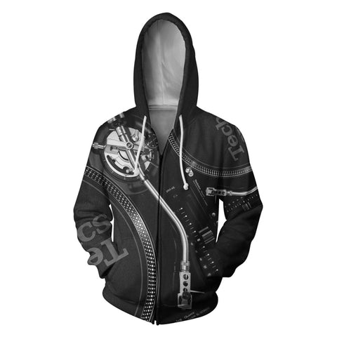 3D DJ Black Disco Hoodies