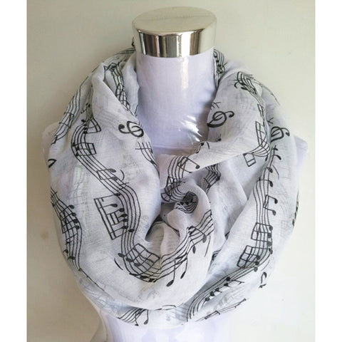 Music Note Infinity Scarves