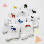 Cute Embroidered Dog Socks - My Passion Street