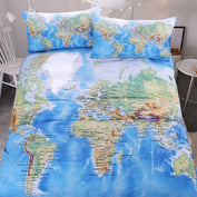 Travelers World Map Bedding Set - My Passion Street
