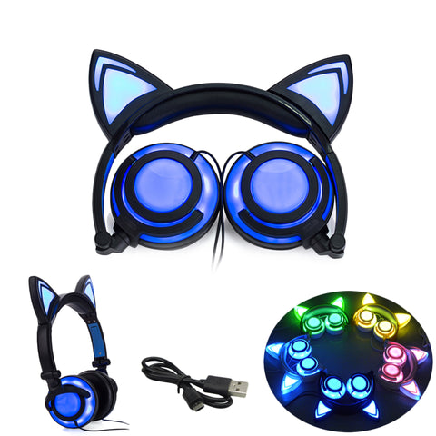 Super Cool Cat LED Headphones - 50% OFF TODAY
